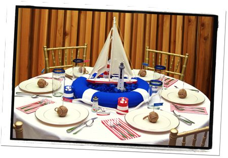Lighthouse Centerpieces for Tables | Nautical Reception Centerpieces & Banquet Table Decorations