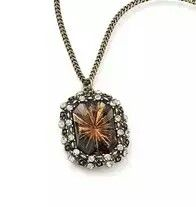 Smoky Topaz Color Collection Pendant Necklace and Matching Ring