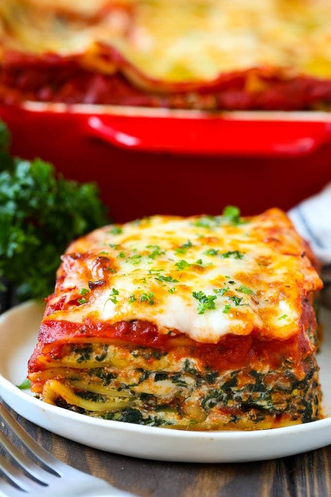 Spinach Lasagna Yummy Vegetable Lasagna Recipes Easy Lasagna Recipe Lasagna Recipe With Ricotta