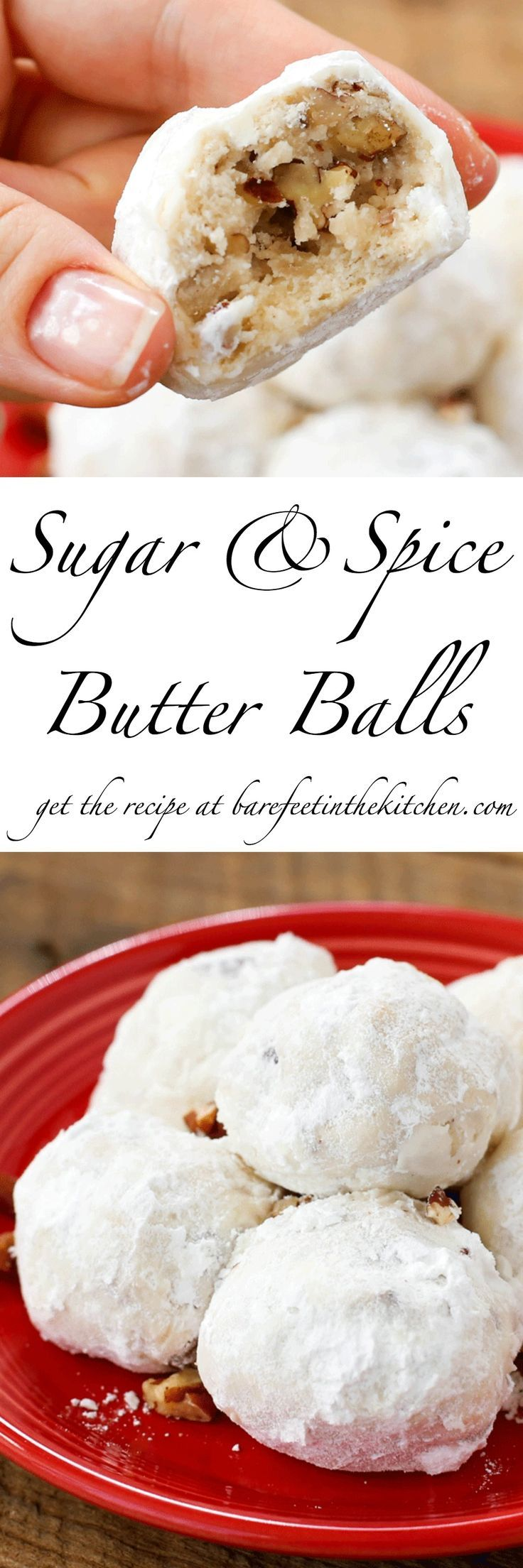 Traditional Mexican Wedding Cookies are transformed into these irresistible Sugar and Spice Butter Balls!