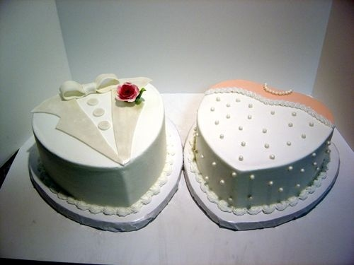 good idea for wedding shower cakes