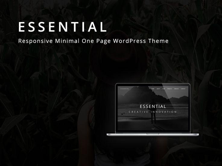 Vedi il mio progetto @Behance: \u201cEssential - Responsive Minimal One Page WordPress Theme\u201d https://www.behance.net/gallery/52196259/Essential-Responsive-Minimal-One-Page-WordPress-Theme