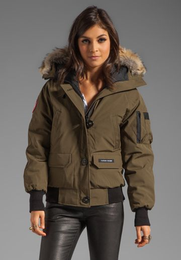wadulifashions.com - Canada Goose Chilliwack Bomber in Military Green