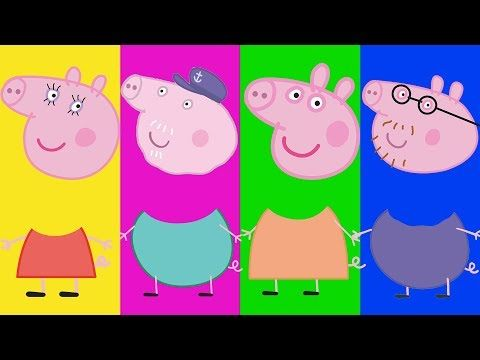 Wrong Heads For Kids Peppa Pig Full Episodes Family Song Nursery Rhymes Kids Hangout - YouTube