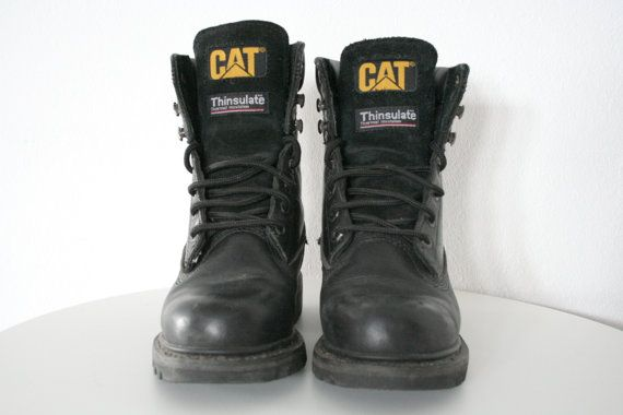 Hey, I found this really awesome Etsy listing at https://www.etsy.com/uk/listing/233796805/90s-cat-caterpillar-black-leather-boots