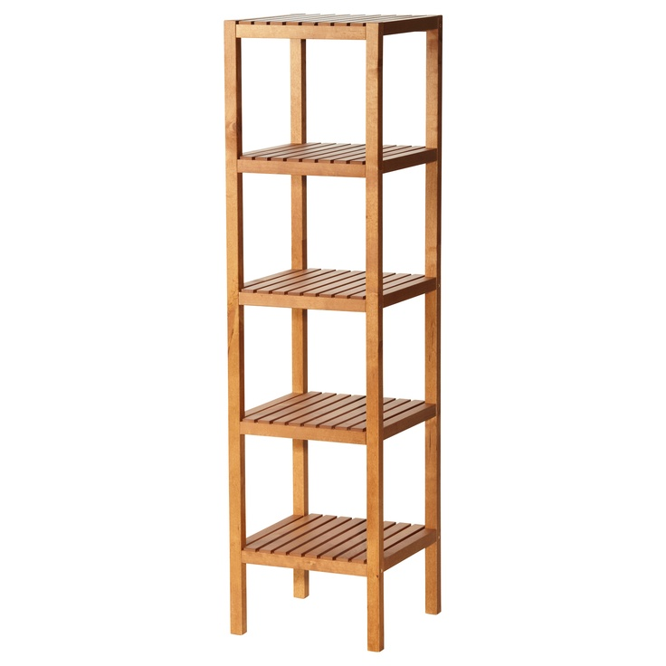 Ikea Pine And White Bookcase Glass Unit Living Room Furniture