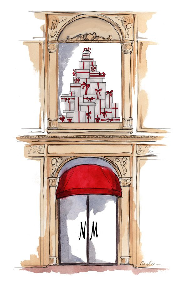 Neiman Marcus store illustration by Inslee