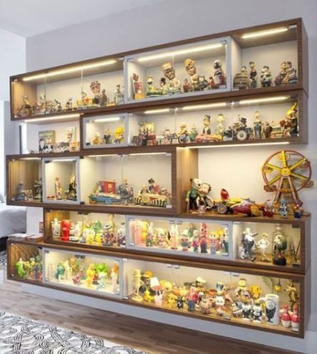 46 Incredible Toy Storage Design Ideas That Looks Cozy In 2020 Lego Display Display Cabinets Ikea Lego Display Shelf