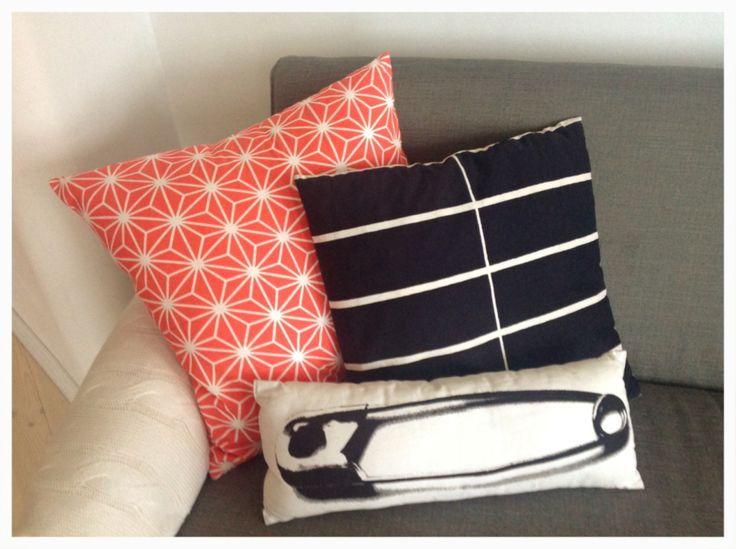 Cushion covers from Ikea Bråkig, Finnish vintage Printex (Marimekko) and H&M Home