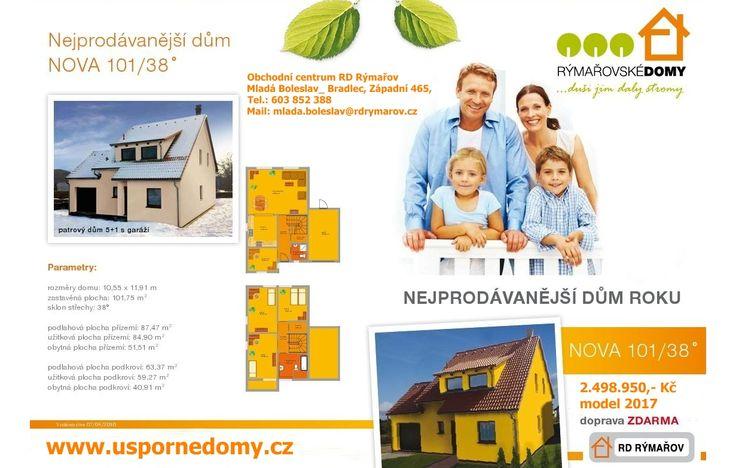 Nova 101, rd rýmařov, levný dům, dřevostavba, www.uspornedomy.cz,