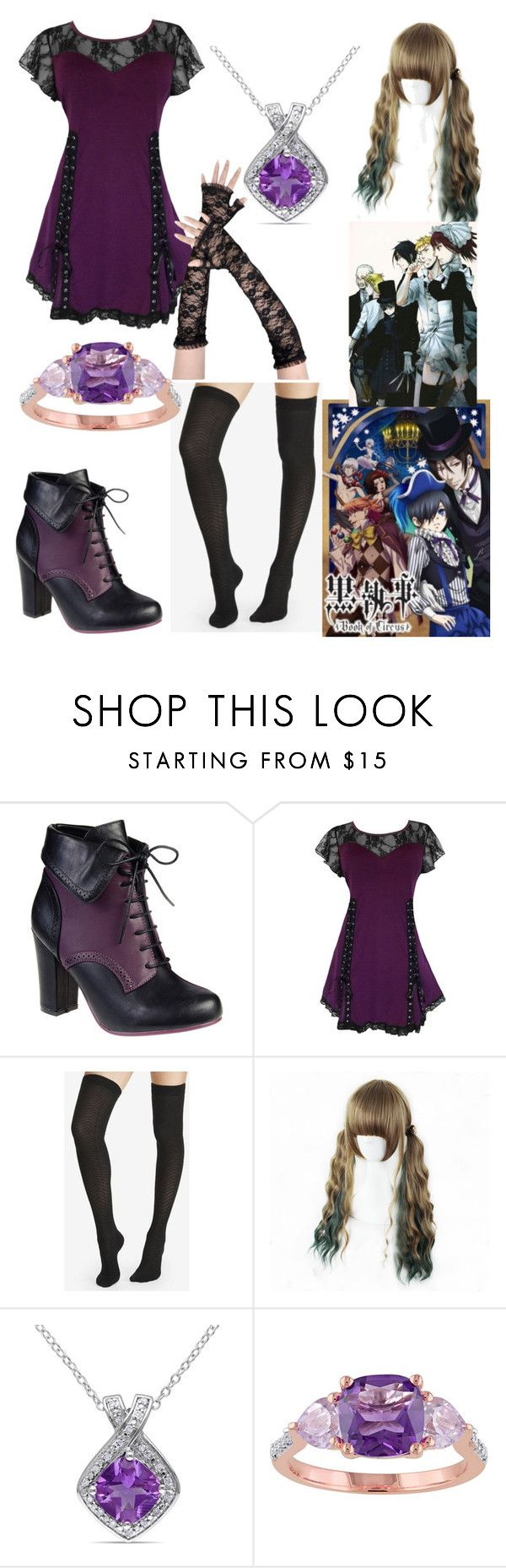 """""""my black butler (oc) outfit"""" by ninjas-rule ❤ liked on Polyvore featuring Express and Miadora"""