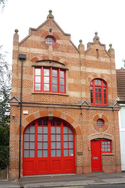 Hampton, England Fire Station. Built in 1897, this beautiful Victorian building currently houses an office. | Shared by LION
