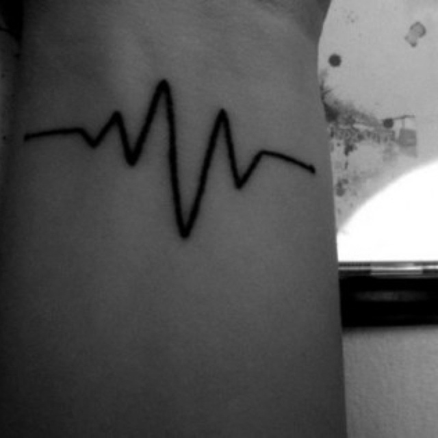 25 best ideas about heart rate tattoo on pinterest