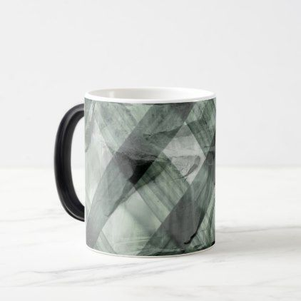 green pattern magic mug - home gifts ideas decor special unique custom individual customized individualized