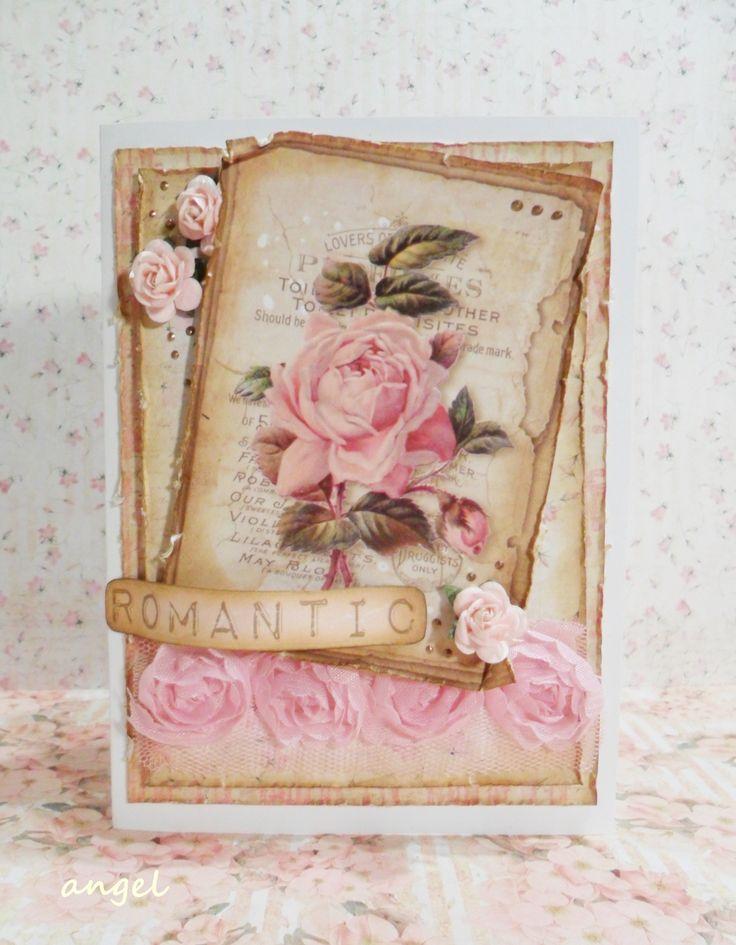 różana kartka