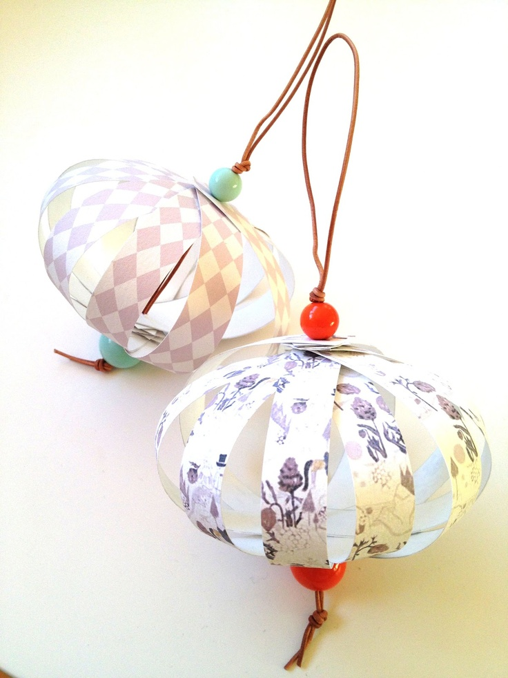 DIY paper Xmas ornament