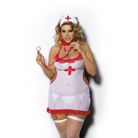 Koszulka puszysta pielęgniarka www.sklep.salonmodyxxl.pl