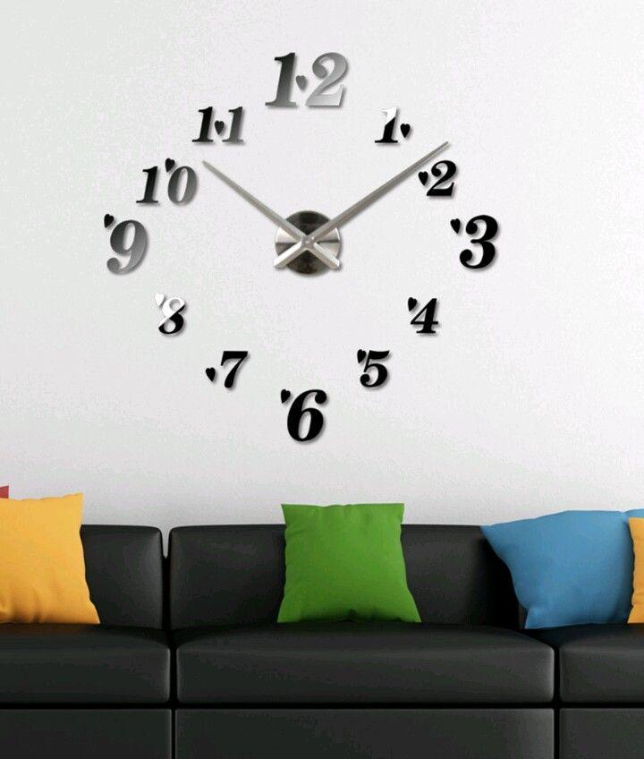 435853e21 ساعات حائط مودرن | اشياء للمنزل | Clock, Wall, Home Decor