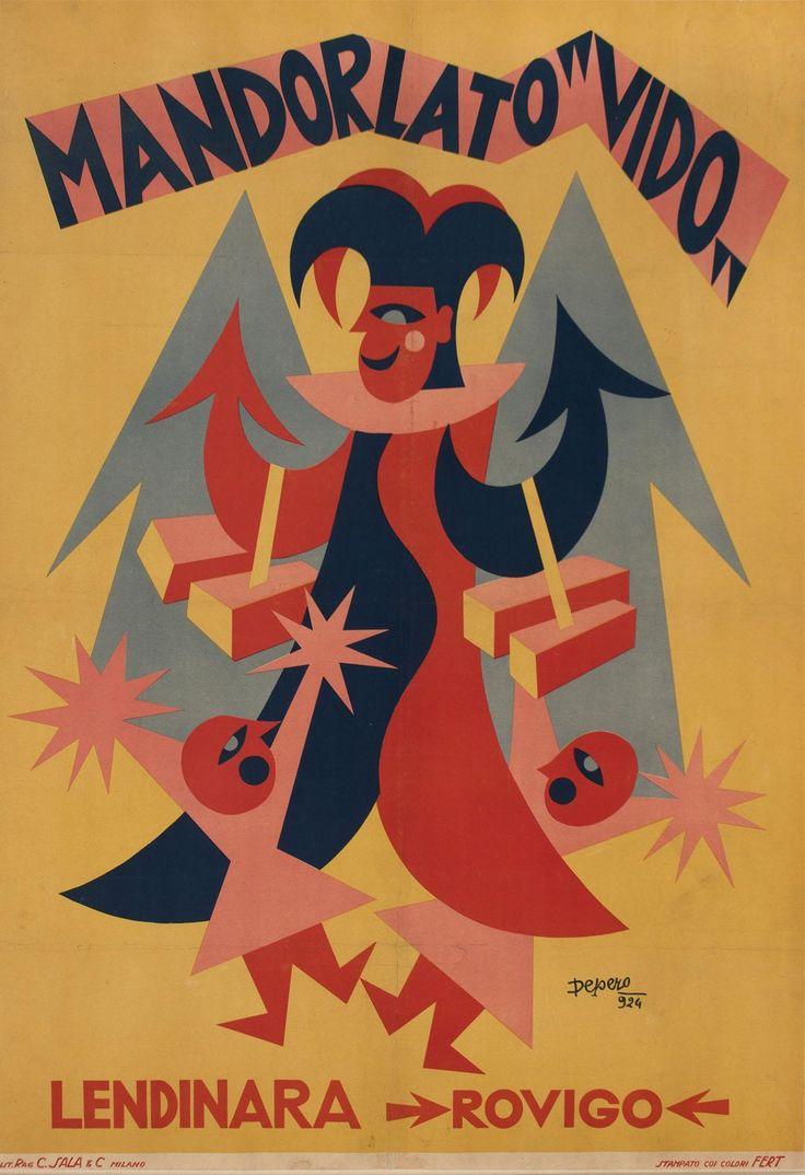 Fortunato Depero, Mandorlato Vido, 1924