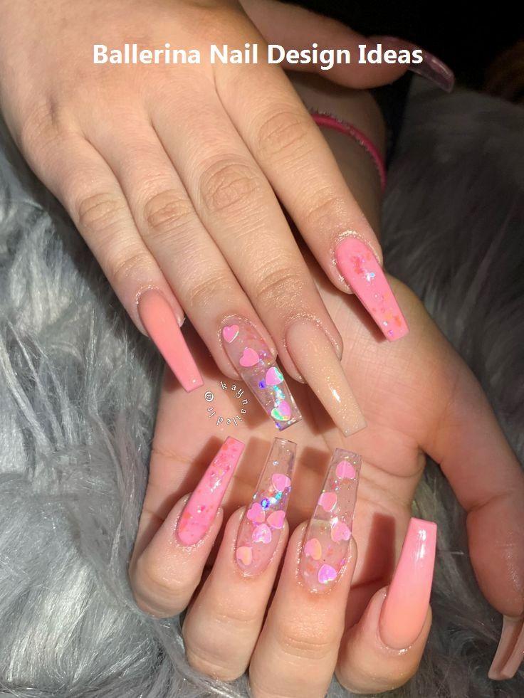 Trendy Ballerina Nail Art 2019 Ballerinanails Pink Acrylic Nails Coffin Nails Designs Cute Acrylic Nails