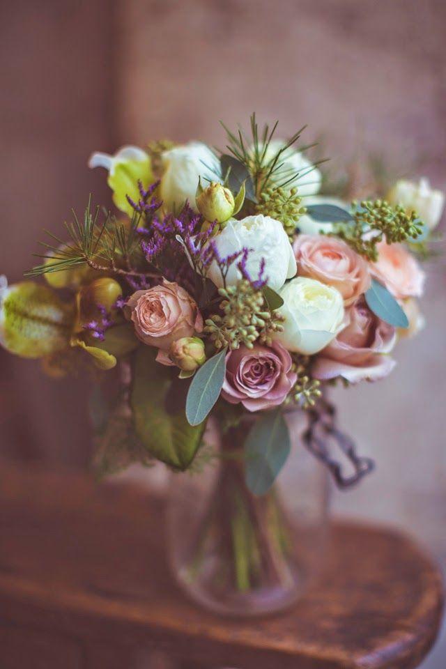 bouquet et fleurs pour un mariage kinfolk