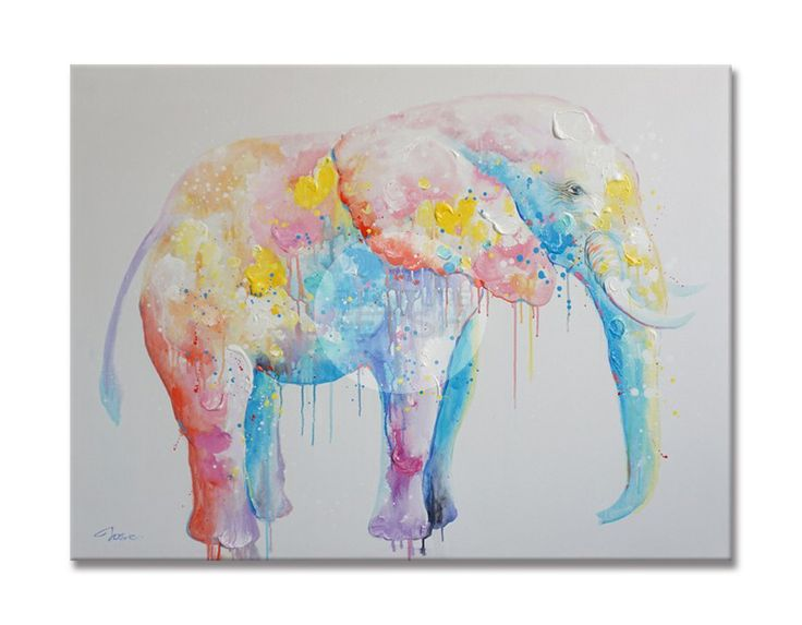 Abstract Elephant Oil Canvas 120 x 90cm