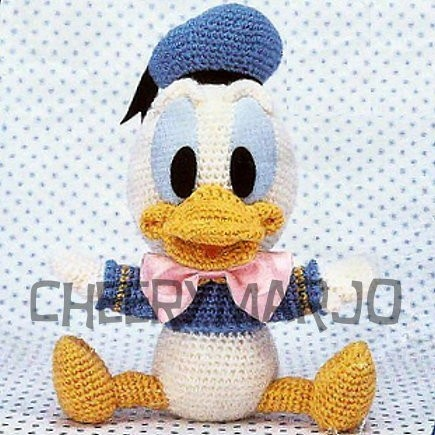 Crochet doll amigurumi PDF pattern - Baby Donald Duck