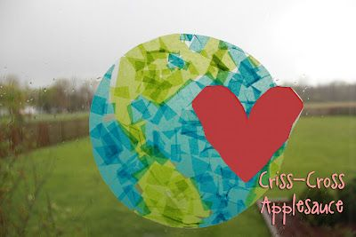 Criss-Cross Applesauce: Earth Day Suncatcher