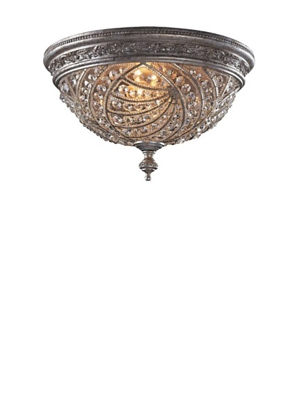 ELK Lighting Renaissance 4-Light Flush-Mount Ceiling Fixture, Sunset Silver