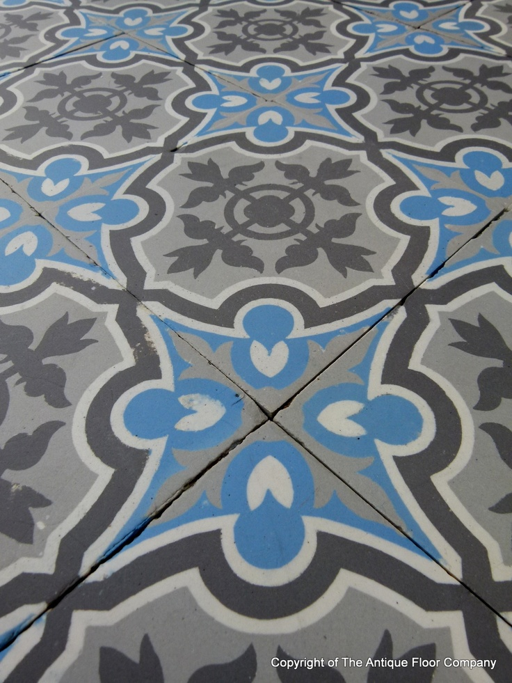 Small antique boucquey and winckelmans ceramic floor c for 1930 floor tiles