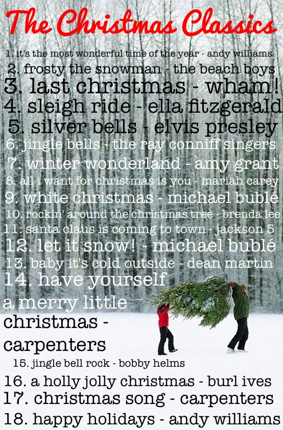 The best classic Christmas songs playlist... play during a party, while putting up decorations or wrapping presents!