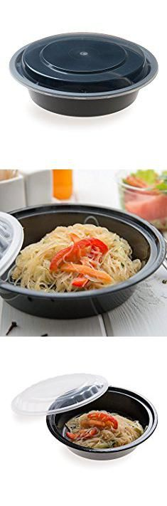 Plastic Food Containers Wholesale. 24-OZ Asporto Microwavable To-Go Container - PP Black Round Food Container with Clear Plastic Lid: Perfect for Catering Events and Restaurant Takeout – Disposable and Eco-Friendly – 100-CT.  #plastic #food #containers #wholesale #plasticfood #foodcontainers #containerswholesale