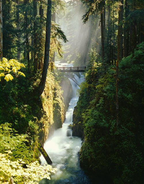 Sol Duc Falls, Olympic National Park, Washington State, USA.  Not sure of Johns last name but his site has some amazing photgraphs of his travels around America in his RV ... worth a look :)
