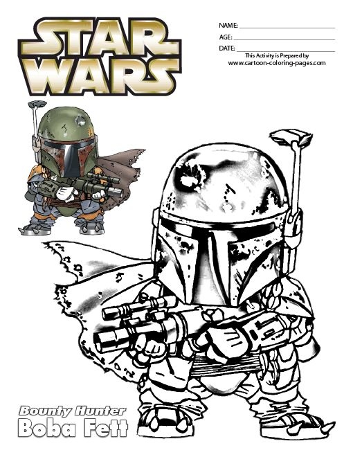 Boba Fett Coloring Pages Star Wars Coloring Pages Boba
