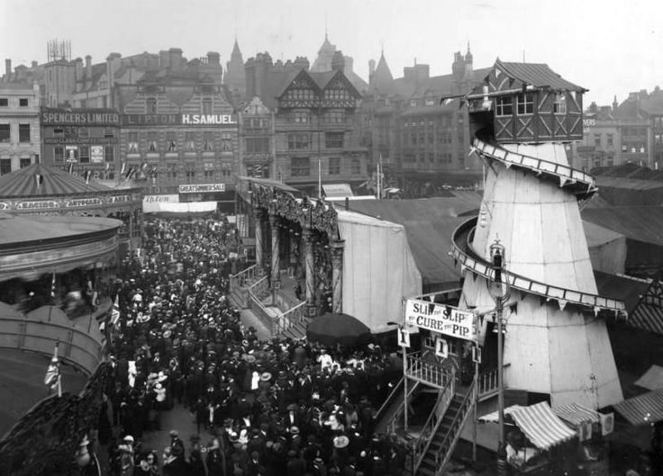 Goose Fair in the Market Square early 1900s Credit: The Paul Nix Collection