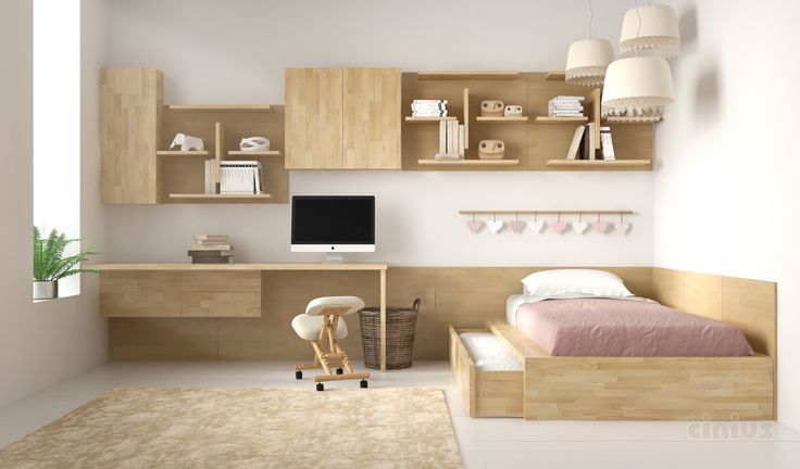 [Letto Comodo-SL] Una soluzione pensata apposta per la cameretta del tuo bambino: un pratico letto in legno massello di faggio lamellare salvaspazio con lettino estraibile su rotelle. (A solution designed specifically for the bedroom of your child: a practical and space-saving bed made of solid laminated beech wood with a secondary slide-out bed on wheels.) #Cinius