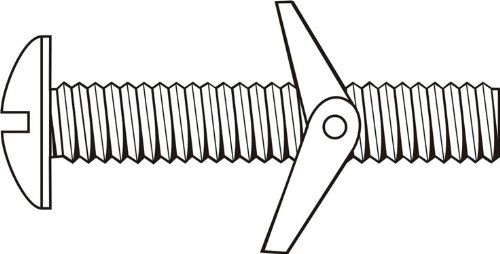 1/4-20x5 Toggle Bolt Slotted Round Hd UNC Steel / Zinc Plated, Pack of 50