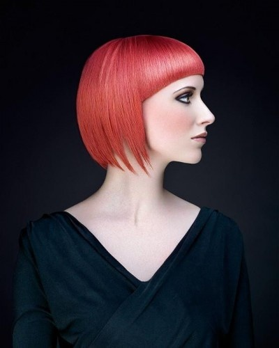 Medium bob hairstyle with wide and long bangs-pin it by carden