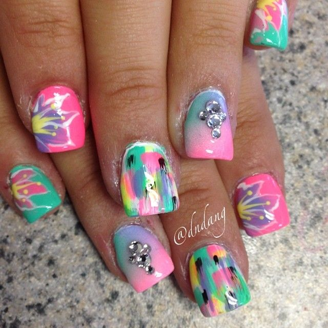 30 Funky And Trendy Nail Art Designs For 2014: Best 25+ Funky Nails Ideas Only On Pinterest