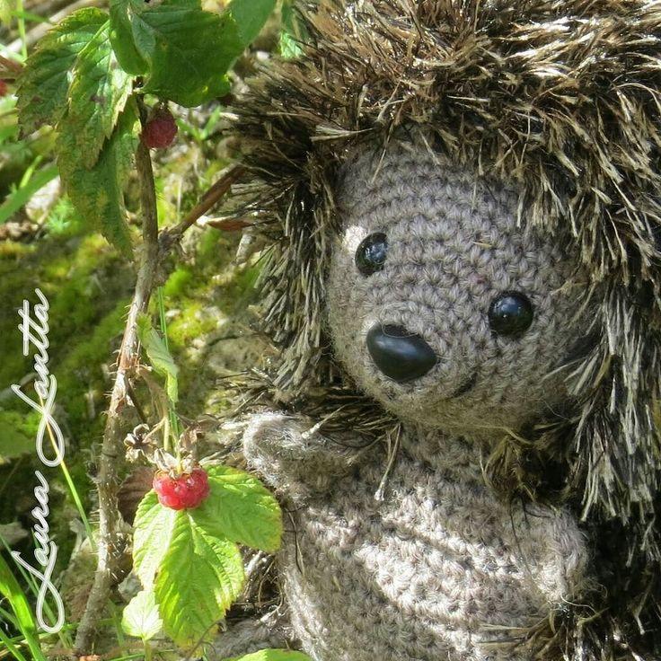 Tämäpä iloinen yllätys! Oh what a surprise! #amigurumi #virkkaus #crochet #häkeln #virka #siili #hedgehog #igel #igelkott #vadelma #raspberry #himbeeren #hallon #diy #ilovecrochet by lauralantta