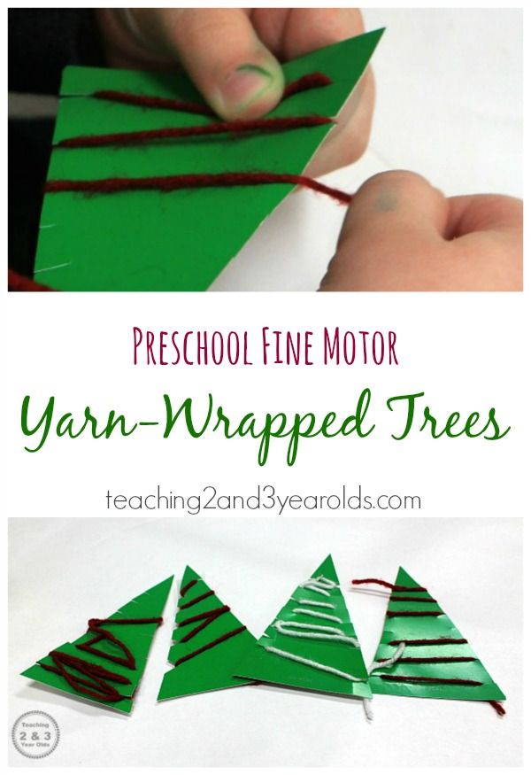 Easy Christmas Activity for Preschoolers - looking for a calm activity for the kitchen table this afternoon? You only need 2 materials and it builds fine motor development!
