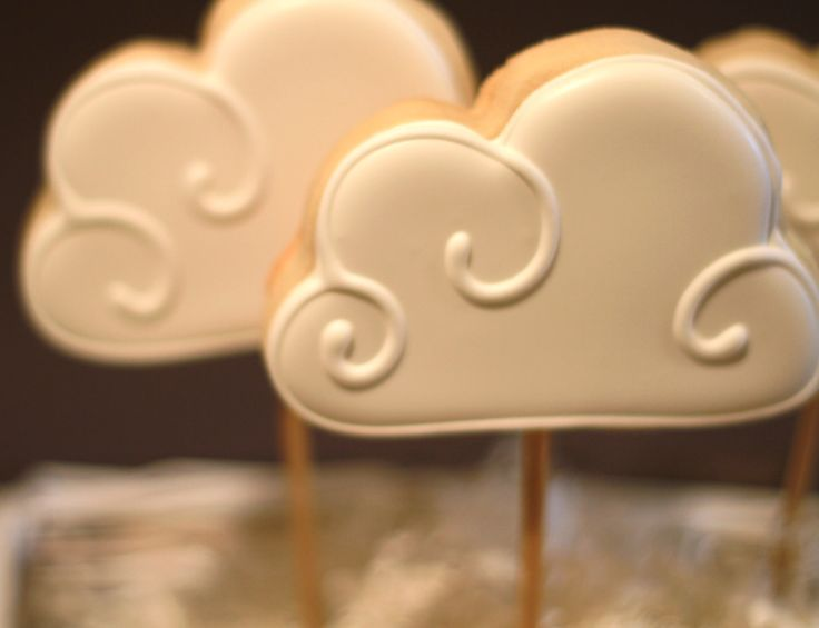 Cloud Sugar Cookies. via Etsy.
