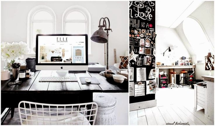 Visual Fashionist: Arredare un piccolo studio in casa: idee chic low ...