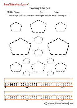 Tracing Shapes - Printables and Worksheets,