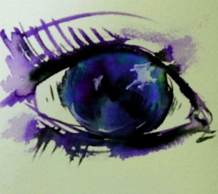 #eye#oko#brushpen#ecoline#psycho#pohled#
