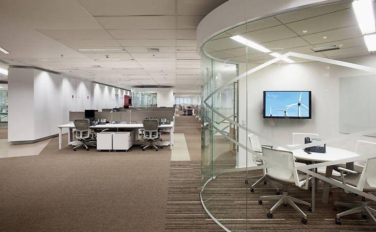 Interior do escritório da Dow Química em São Paulo. O projeto foi do escritório grupo A|W