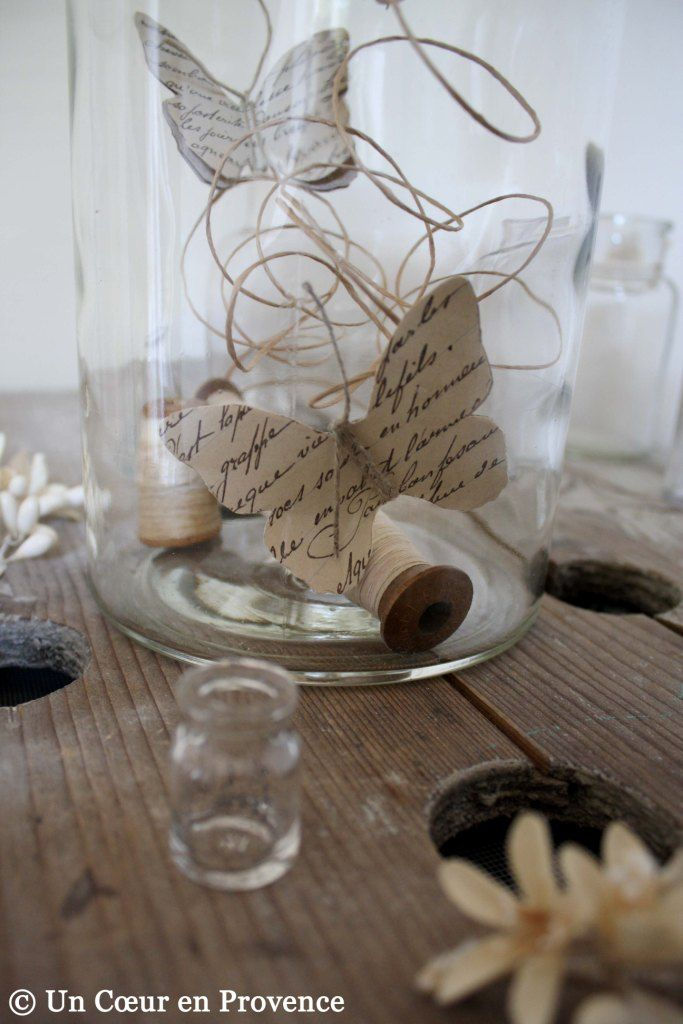 paper butterflies in a glass jar: fun