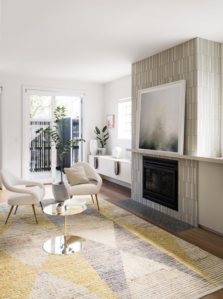Prahran Residence living room by Doherty Design Studio. Photographer: Tom Blachford.