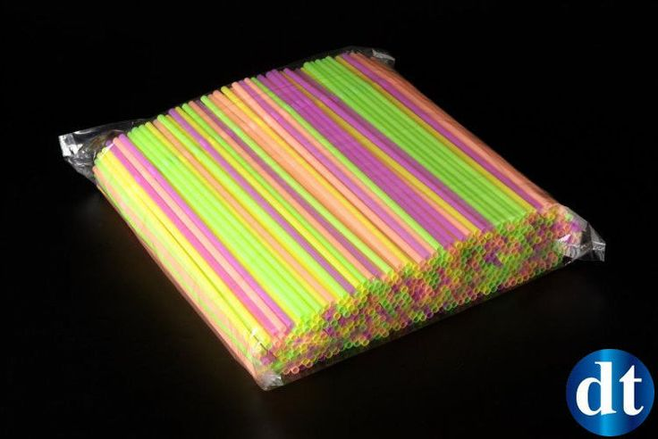 250 CANNUCCE COLORATE FLESSIBILI PIEGHEVOLI FLUO Cocktail Bevande Drink