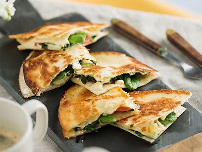 spinazie-quesadilla's